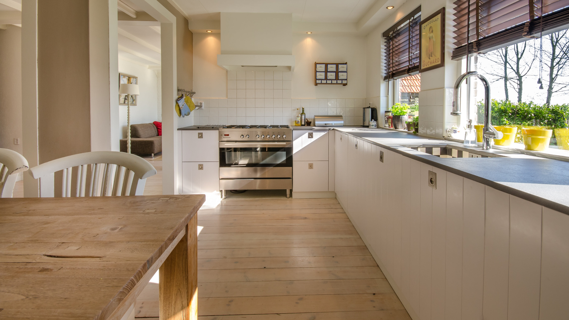 add greenery to your kitchen